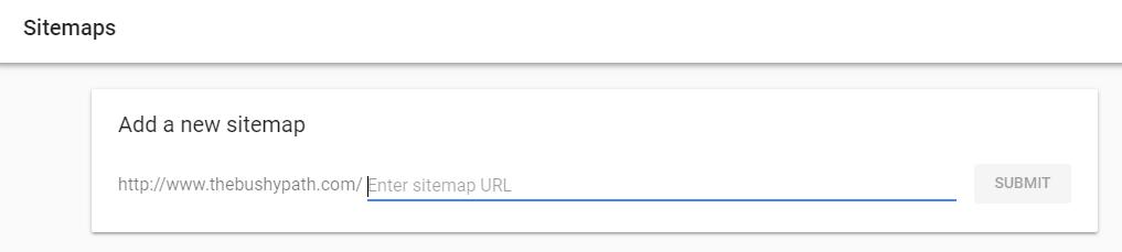 Adding Sitemap