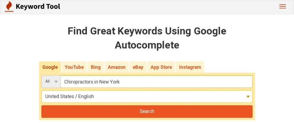Google Autocomplete Keyword Research Tool